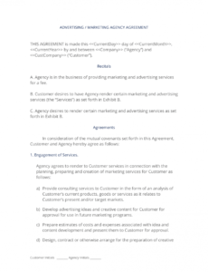 advertising and marketing agency contract  3 easy steps marketing agency contract template