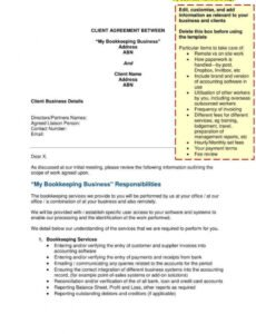 editable 6 bookkeeping contract templates  pdf word  free freelance bookkeeping contract template example