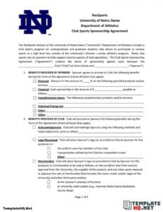 editable 8 most common terms of sponsorship agreement form  template hq athlete sponsorship contract template pdf