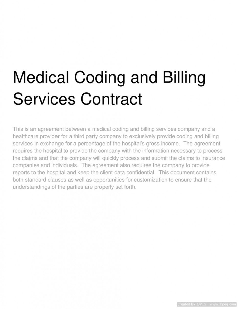 editable medical coding and billing services contract medical billing service contract template example