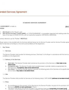 editable sample  managed service agreement  template  genericized managed service provider contract template sample
