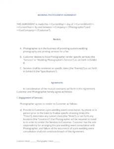 editable wedding photography agreement  3 easy steps photography wedding contract template pdf