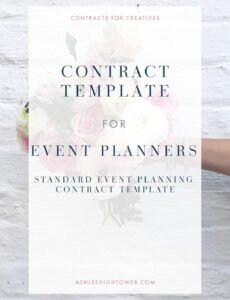 event planner contract template  contract for creatives event management contract template word