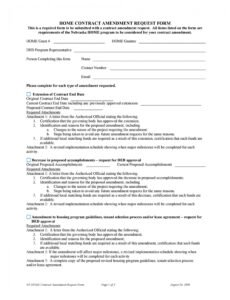 free 44 professional contract amendment templates & samples construction contract addendum template word