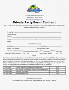 free event planner contract template ~ addictionary event management contract template example