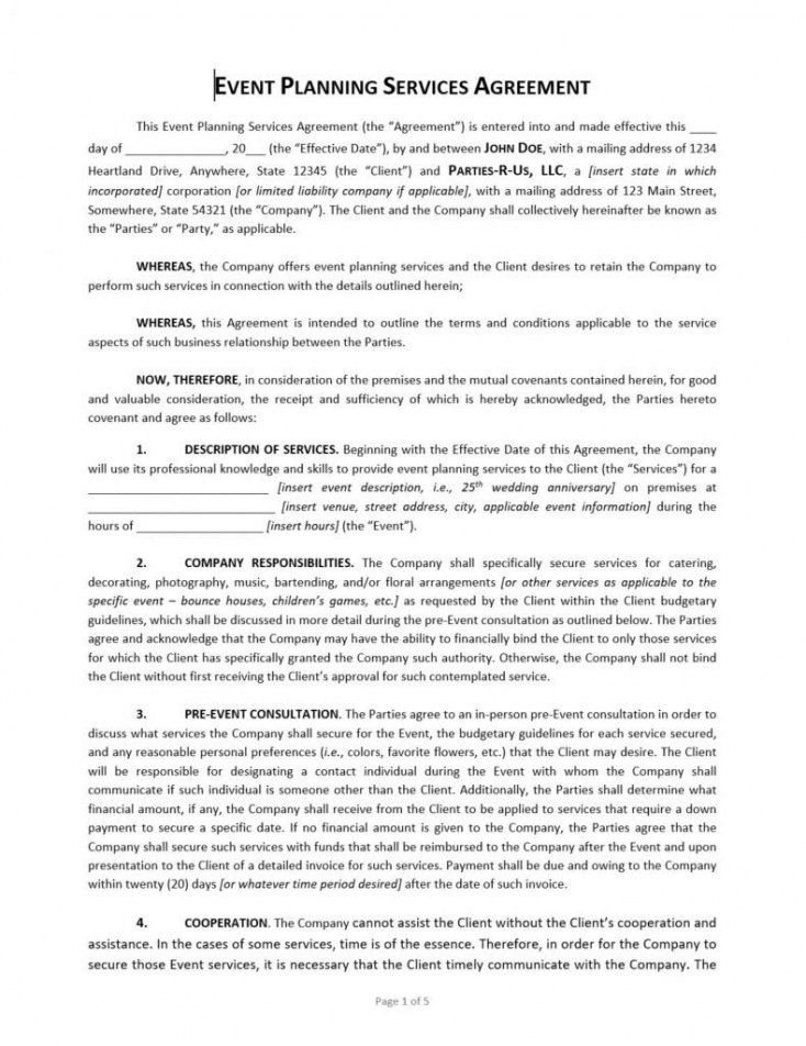 free event planning contract template  approveme  free contract event management contract template excel