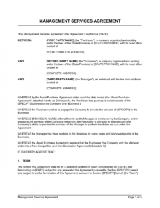 free management services agreement template  by businessinabox™ managed service provider contract template example