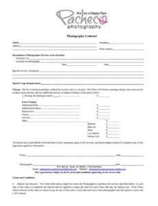free what your photography contract must have plus good photography wedding contract template word