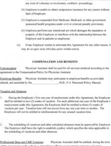 physician assistant employment agreement terms of agreement physician assistant employment contract template example