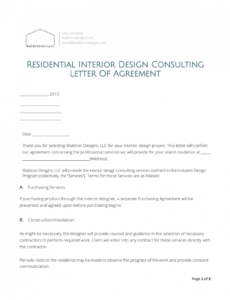 printable 8 interior design proposal examples in pdf  ms word interior decorating contract template excel