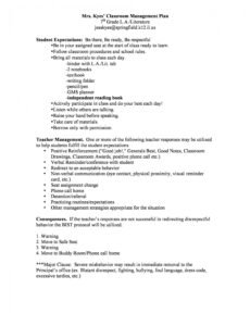 printable classroom management plan  38 templates & examples behavior contract template for elementary students doc