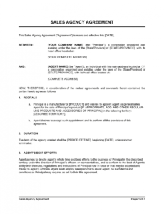 sales agency agreement template  by businessinabox™ marketing agency contract template pdf