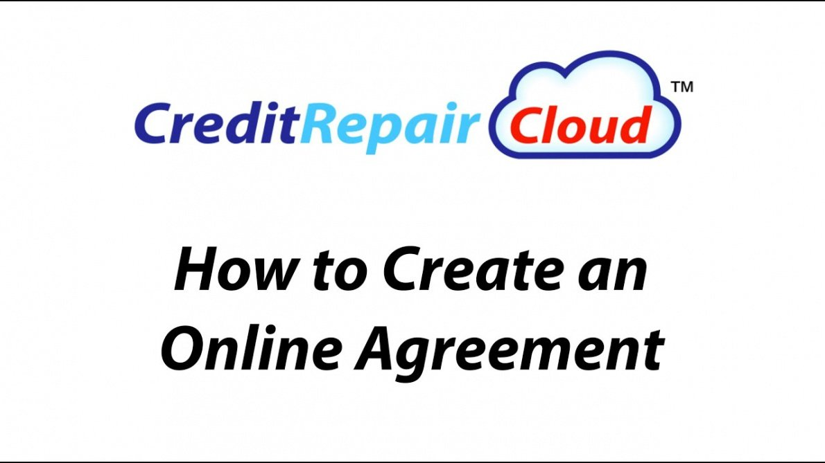 sample how to create an online agreement in credit repair cloud credit repair contract template excel