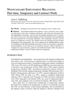 sample pdf nonstandard employment relations parttime temporary freelance bookkeeping contract template sample