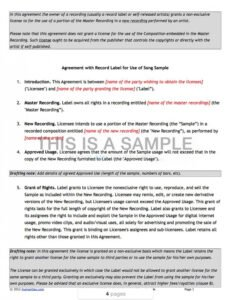 sample record label contract template ~ addictionary independent record label contract template sample