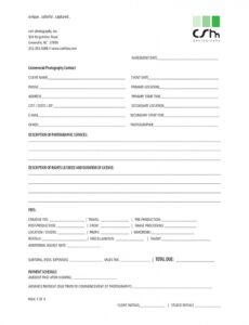 what your photography contract must have plus good photography wedding contract template doc