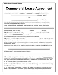 26 free commercial lease agreement templates  templatelab commercial lease contract template excel