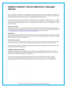 38 free freelance contract templates ms word  templatelab self employed contract template sample