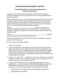 50 artist management contract templates ms word  templatelab artist manager contract template word