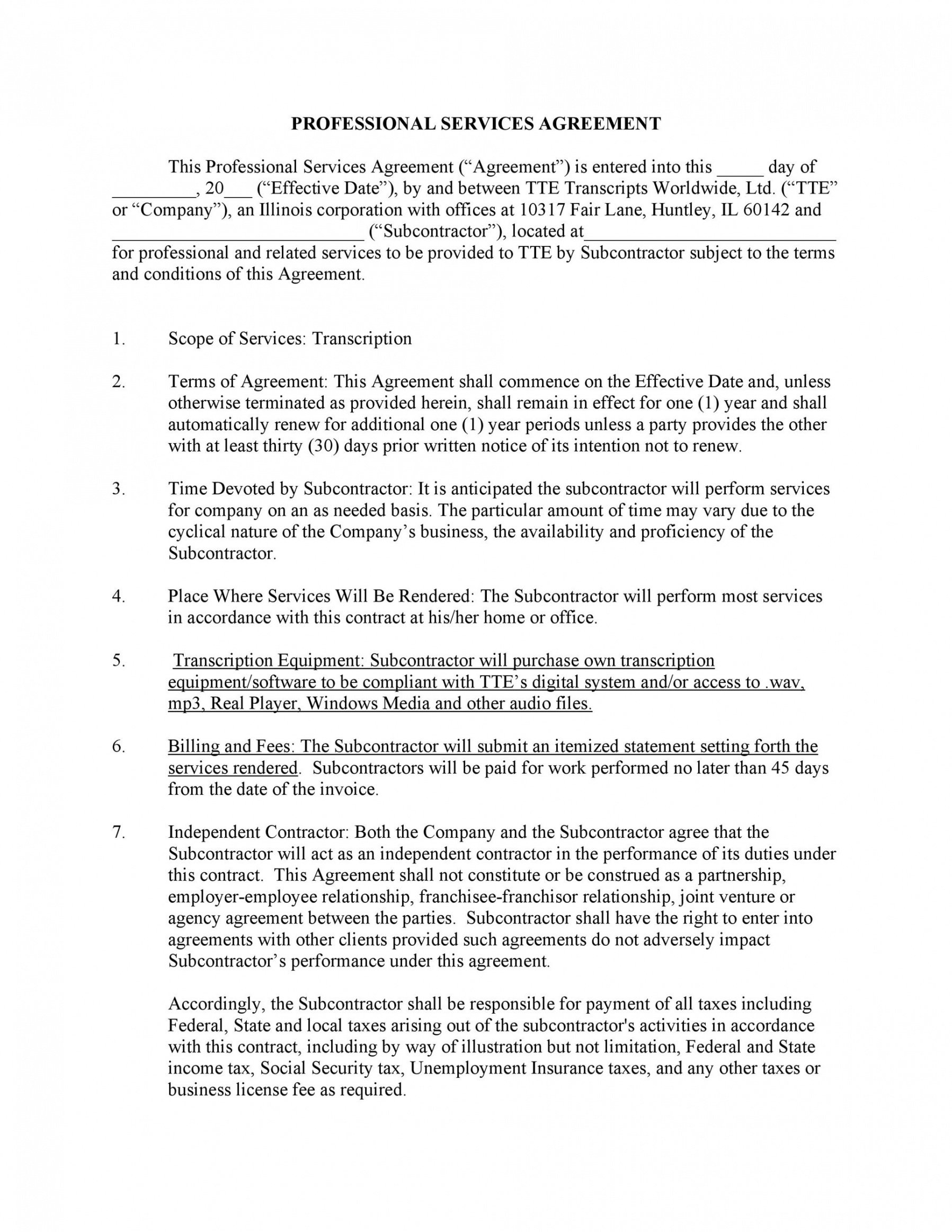 50 professional service agreement templates & contracts it services contract template pdf