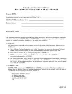 6 it service agreement templates  pdf  free & premium it services contract template sample