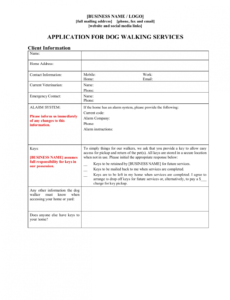 dog walker contract forms package dog sitting contract template pdf