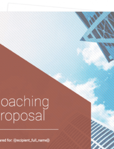 editable coaching proposal template  free sample  proposable executive coaching contract template excel
