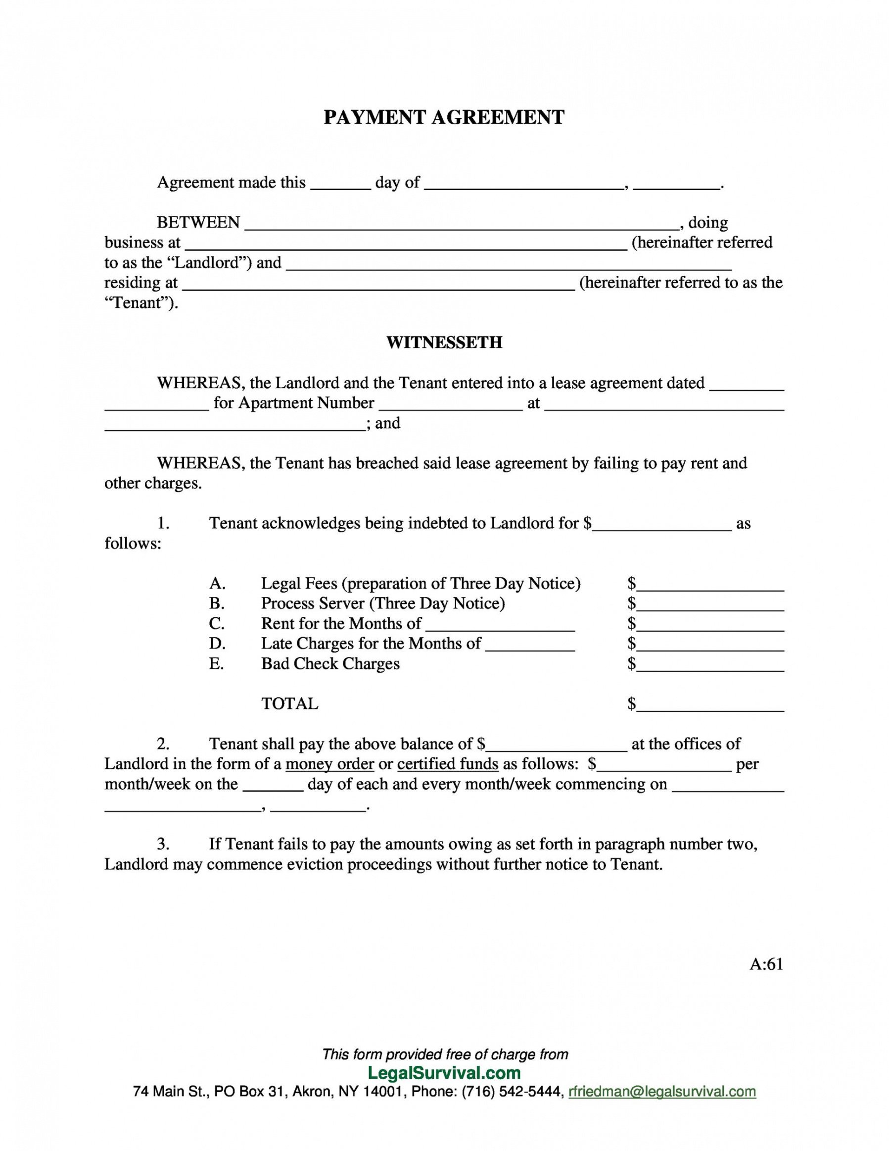 editable payment agreement  40 templates & contracts  templatelab take or pay contract template excel