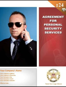 editable sample bodyguard services contract template security service contract template sample