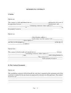 free 10 bathroom renovation contract template examples  pdf home renovation contract template doc