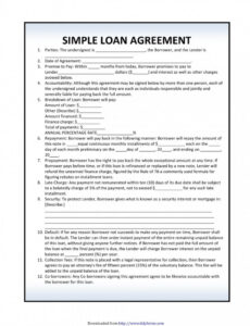 free car loan agreement template pdf ~ addictionary auto financing contract template pdf