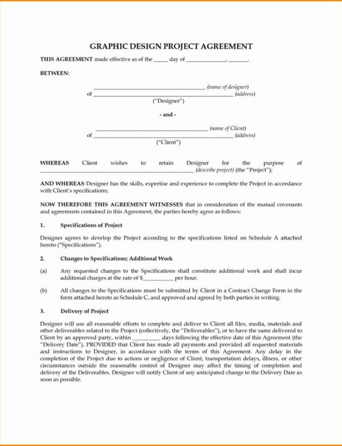 Free Graphic Design Contract Tips And Templates To Use Web Designer Contract Template Doc