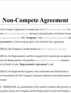 free noncompete agreement template  antonlegal no compete contract template doc