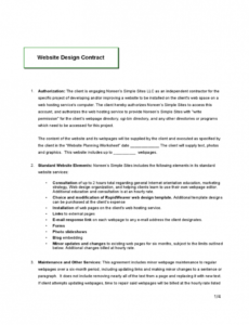 free web design contract how to write it & what you should include web designer contract template example