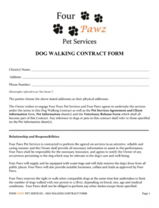 pet sitting agreement template  autismrpphub pet care contract template