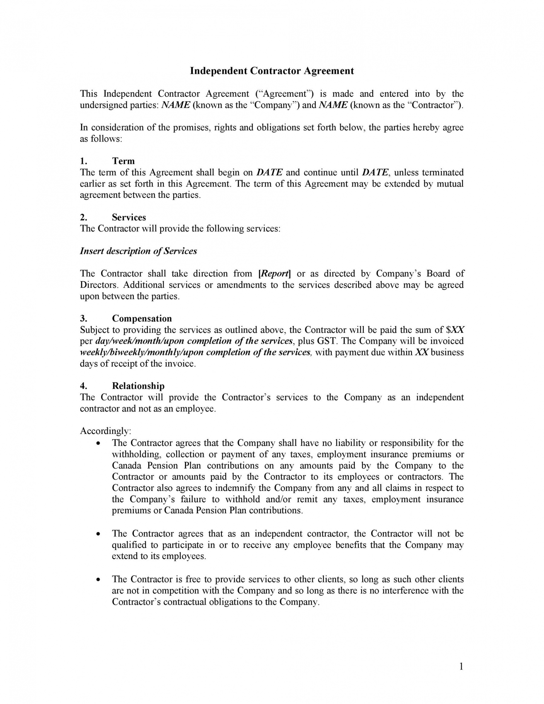 printable 40 great contract templates employment construction public relations contract template doc