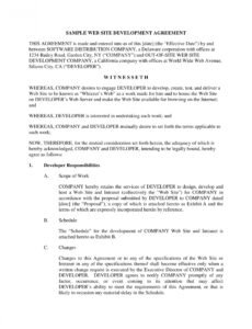 sample 11 freelance developer contract example templates  pages freelance web developer contract template excel