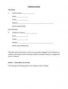 sample 38 free freelance contract templates ms word  templatelab self employed contract template