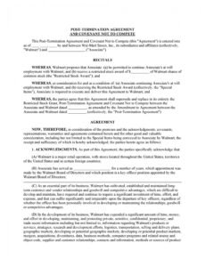 sample 39 readytouse noncompete agreement templates  templatelab no compete contract template excel