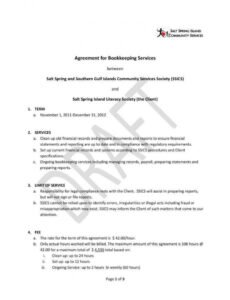 sample 6 bookkeeping contract templates  pdf word  free accounting services contract template example