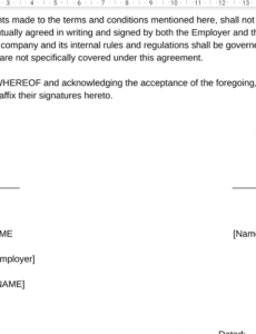 sample employee agreement bond or contract format sample templates blogger contract template excel