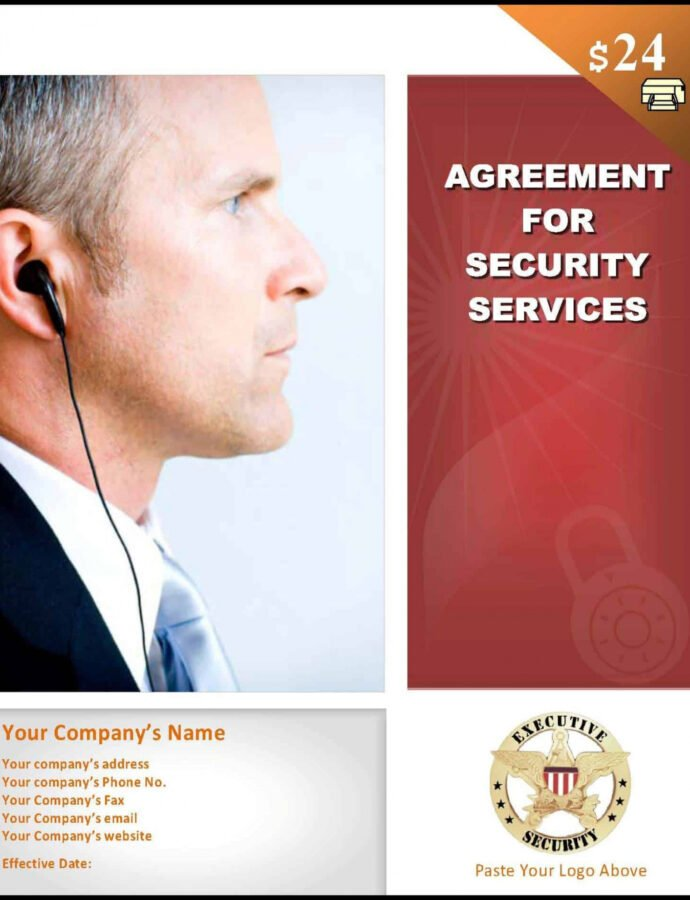 Sample Security Services Contract Template Security Service Contract Template PDF