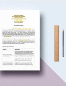 sample web designer contract template in word apple pages web designer contract template