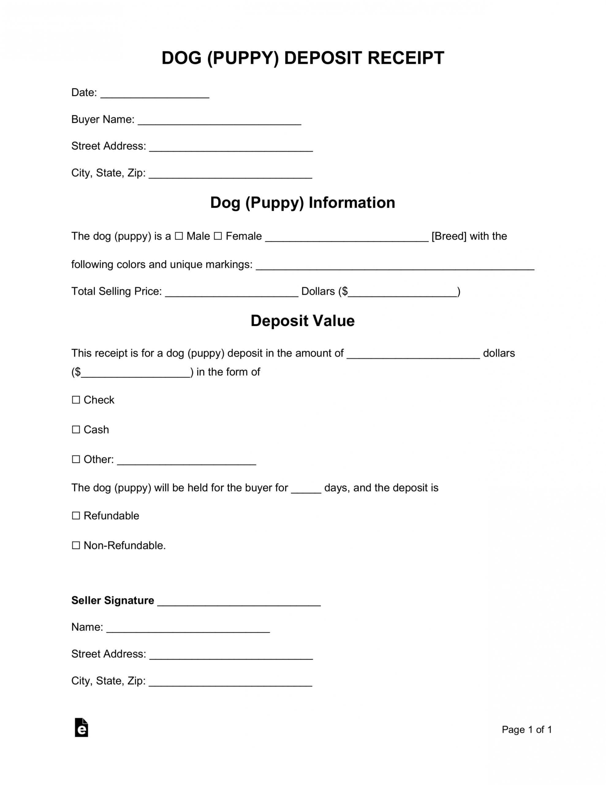 Best Puppy Purchase Contract Template Pdf Example