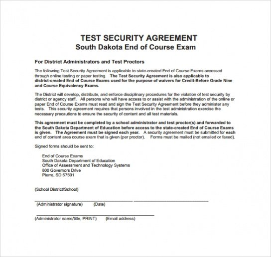 Best Security Company Contract Template Doc Sample