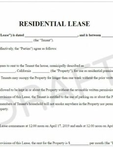 Best Standard Rental Contract Template Pdf Sample