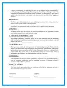 Costum Contract Template For Web Design Services Excel Sample