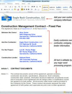 Editable Commercial Interior Design Contract Template Excel Sample