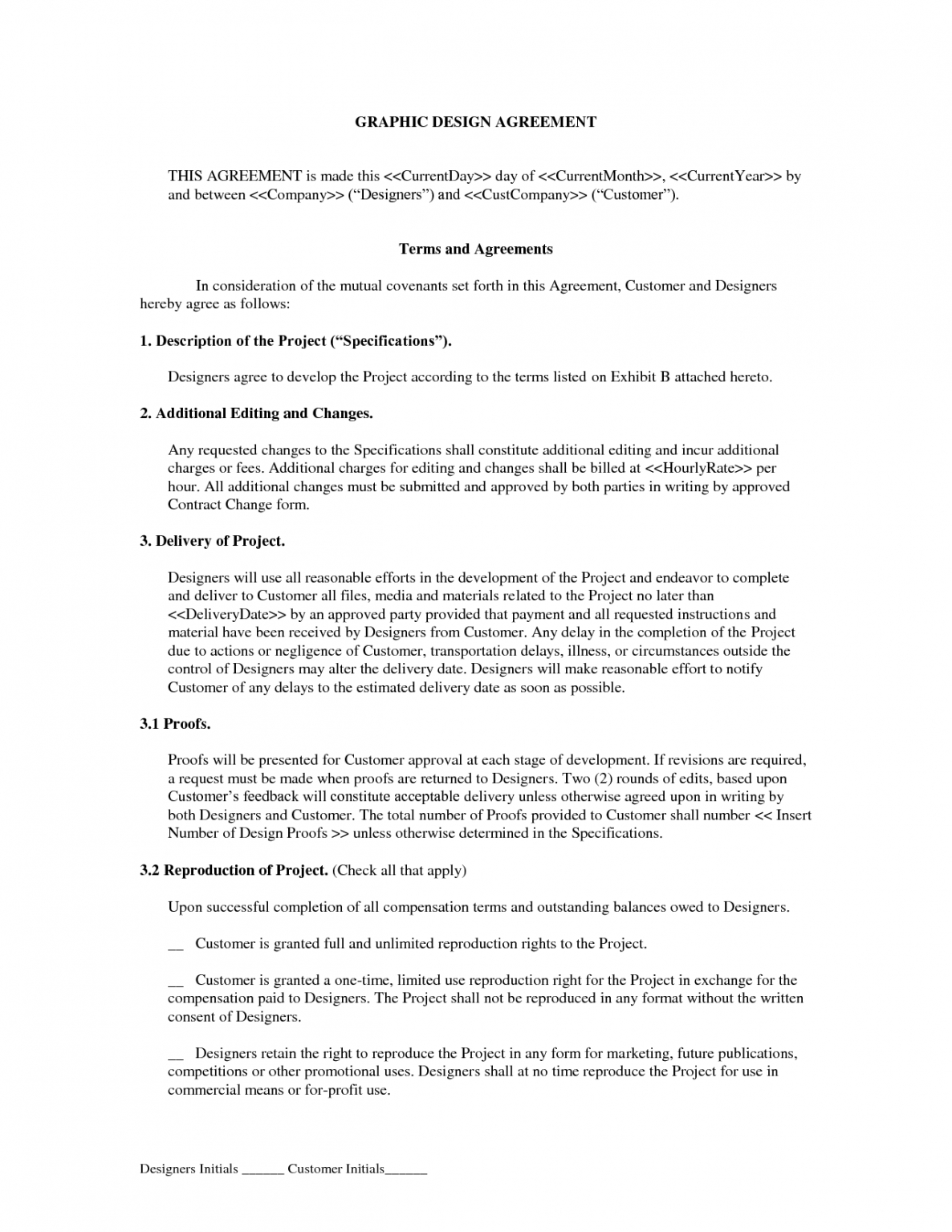 Editable Contract Template For Web Design Services Pdf