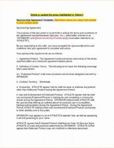 editable event sponsorship agreement template beautiful agreement event sponsorship contract template sample